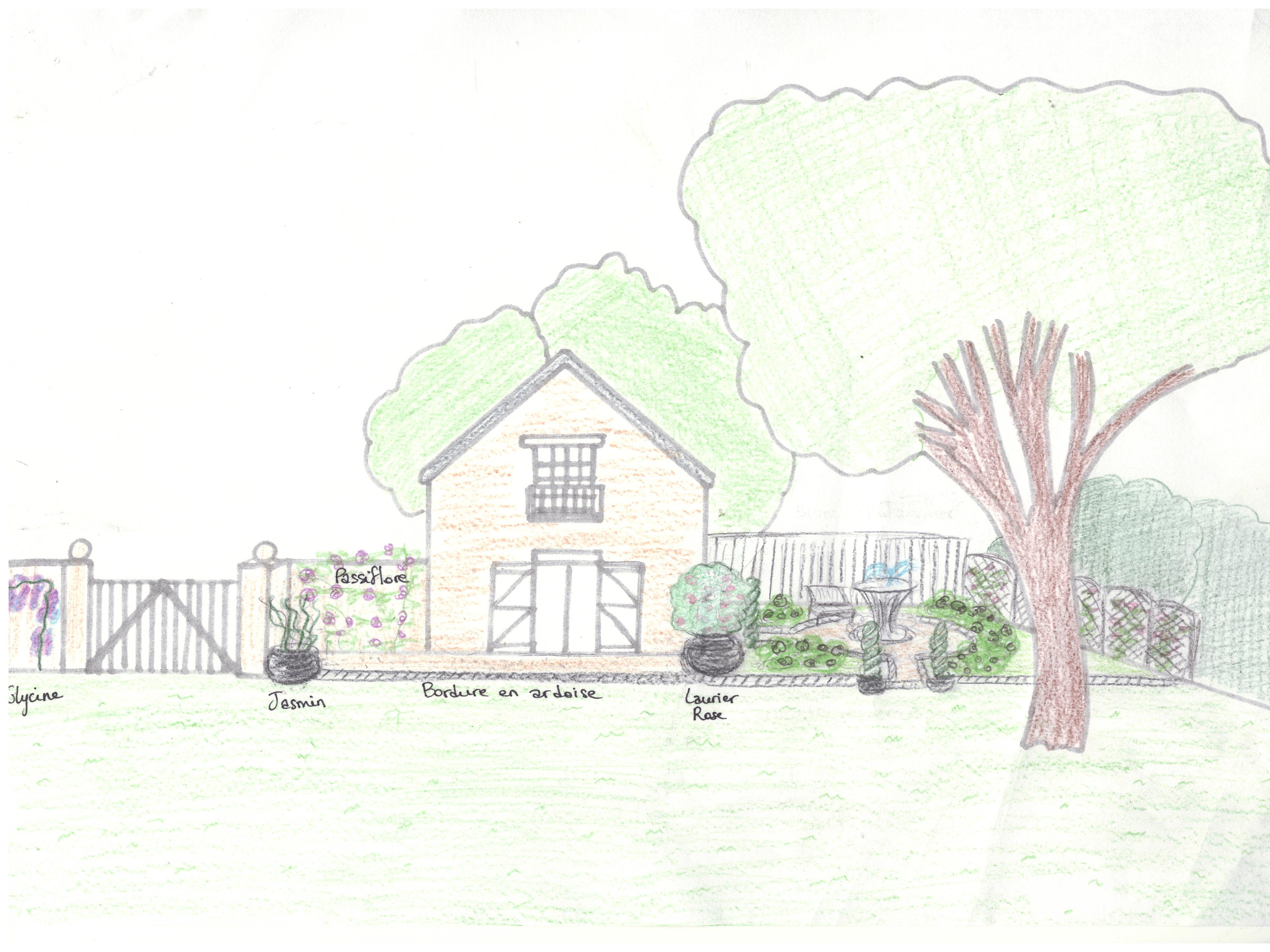 perspective jardin longère 1