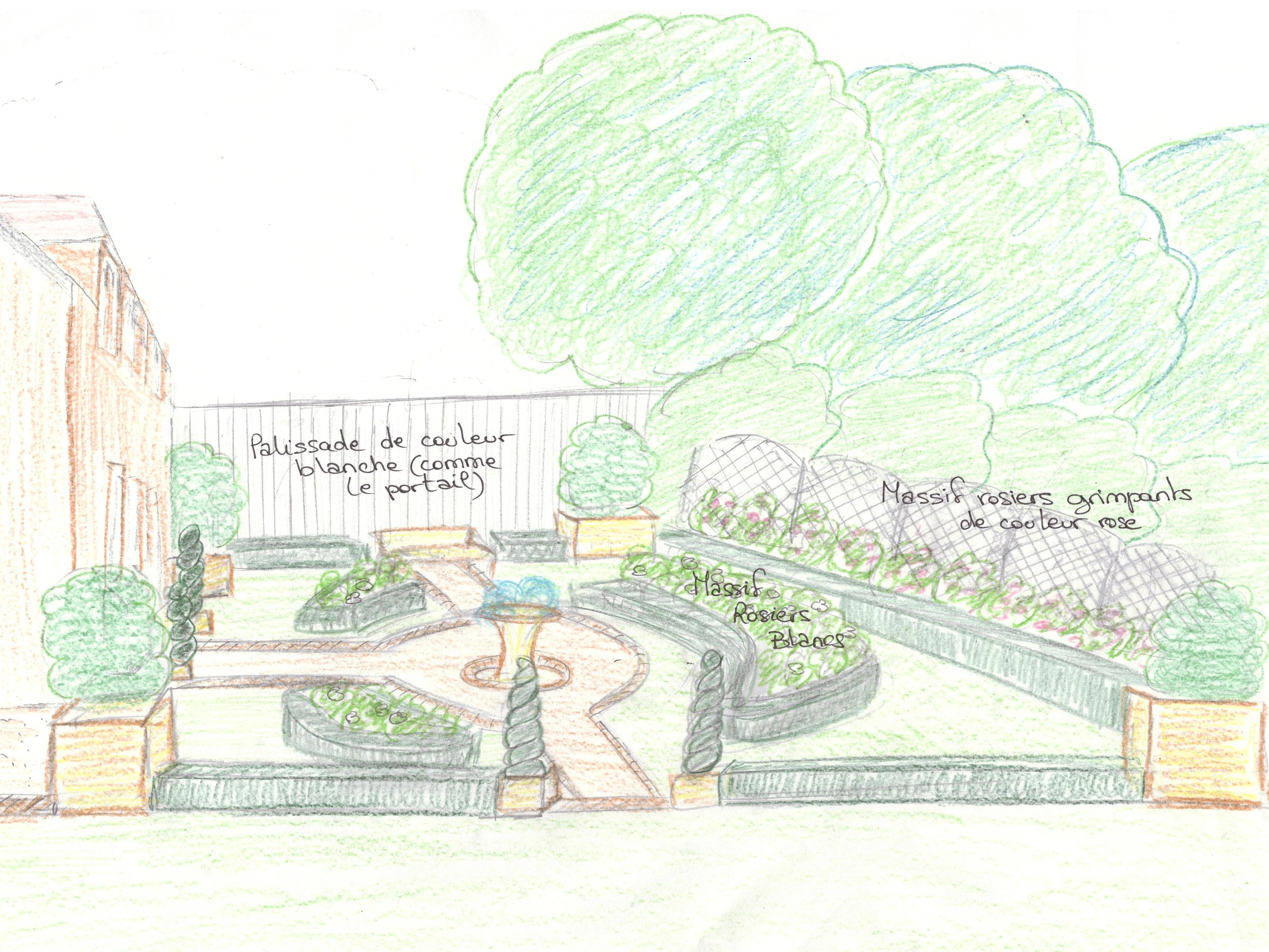 perspective jardin longère 3