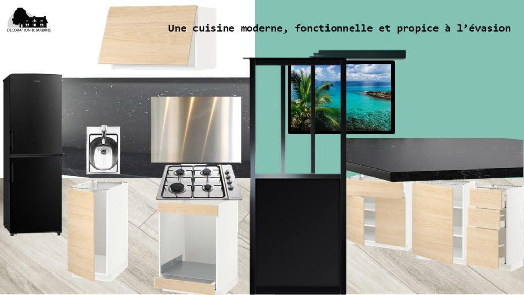 Planche Ambiance Cuisine Evasion Contemporaine by Décoration et Jardins